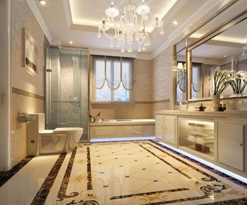 大理石卫浴间 完美展露自然肌理