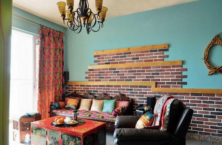 家中一堵复古砖墙 最是一抹室内风景