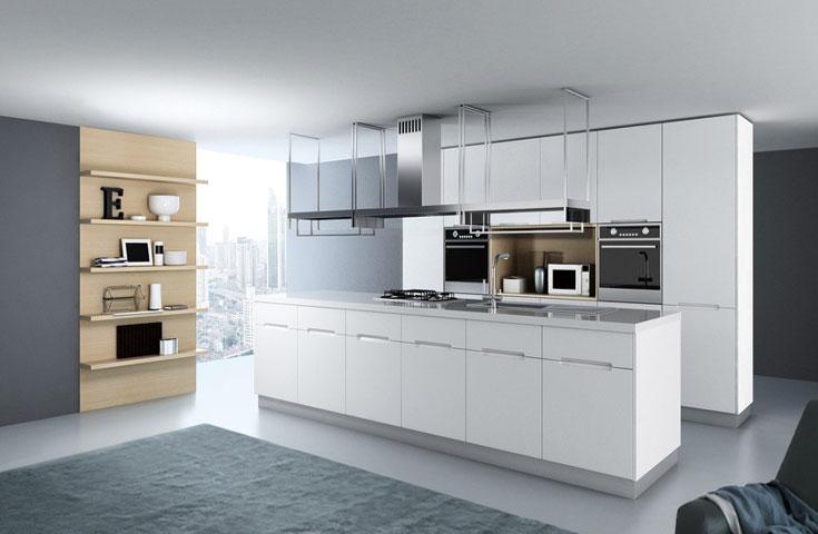 无吊柜厨房 完美界定上下空间