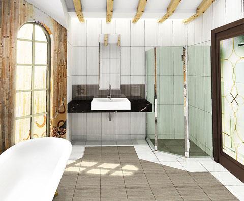 从现代到古典 当浴室遇上瓷砖