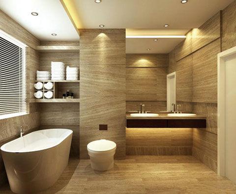 别具一格的卫浴间瓷砖拼贴设计 复古而唯美