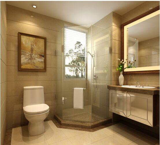 卫浴间腰线设计打破常规 引起围观
