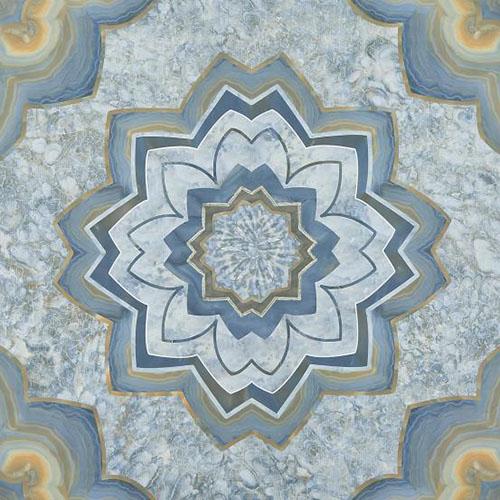 法恩莎瓷砖蓝莲花 绽放在深幽海底的日月精华