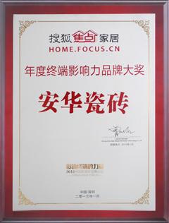 年度终端影响力品牌大奖