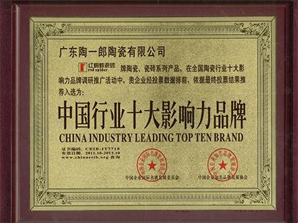 中国行业十大影响力品牌