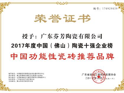 中国功能性瓷砖推荐品牌