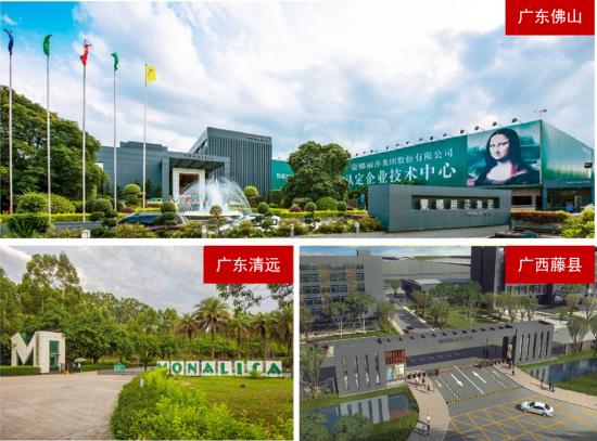 蒙娜丽莎广西藤县生产基地顺利投产