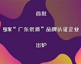 """首批9家""""广东优质""""品牌认证企业佛山占5家,获证数居全省第一"""