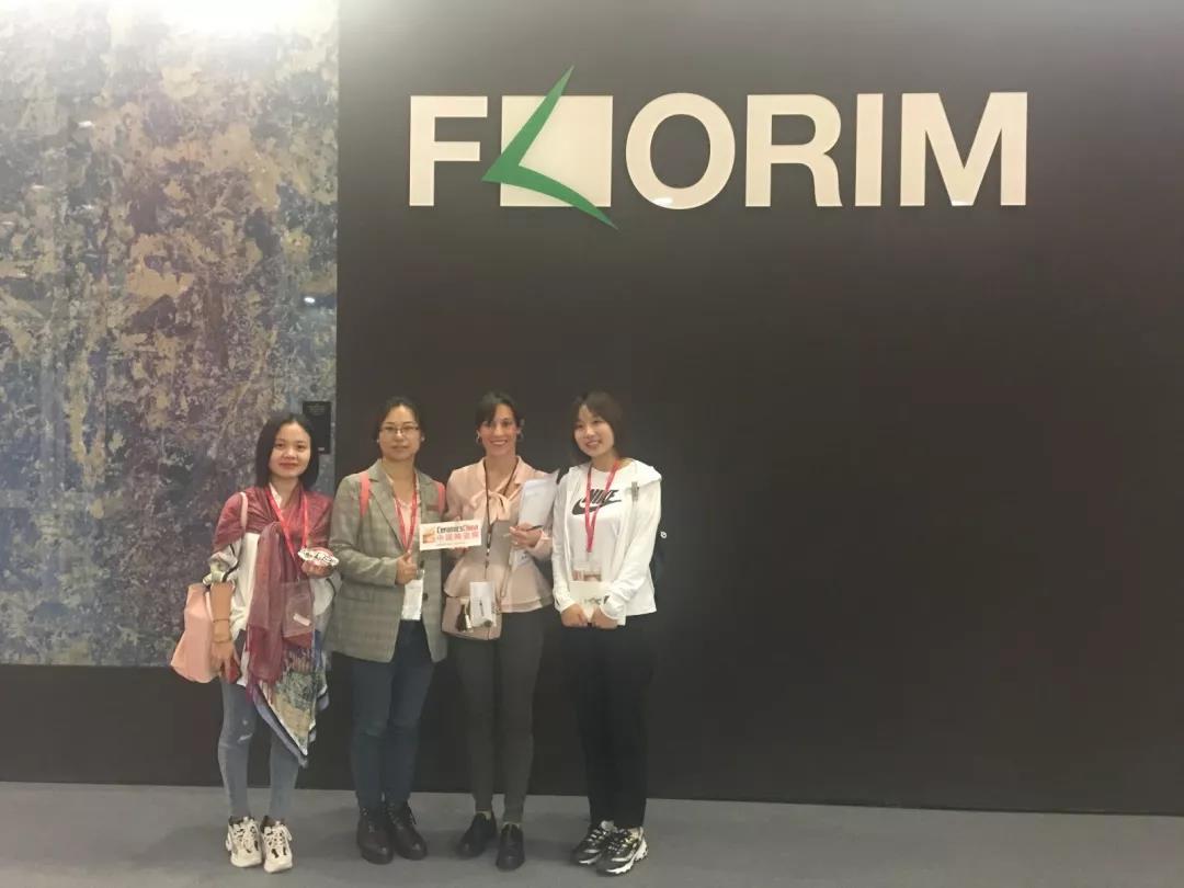9月23日中陶網走訪FLORIM展位,絲綢元素新產品是亮點。