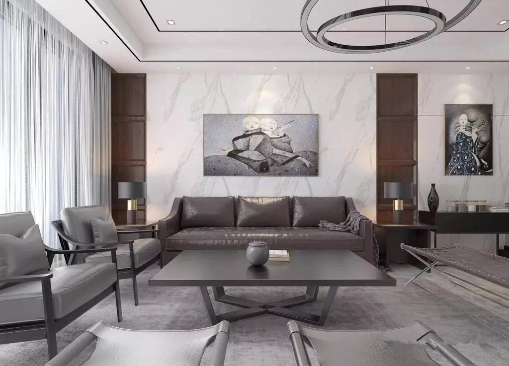 经典黑白灰|大理石瓷砖背景墙的最佳选择!