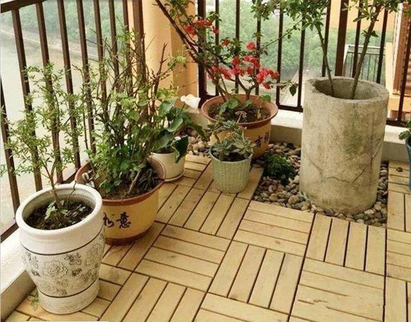陶瓷百科|阳台铺瓷砖效果好还是铺防腐木好?