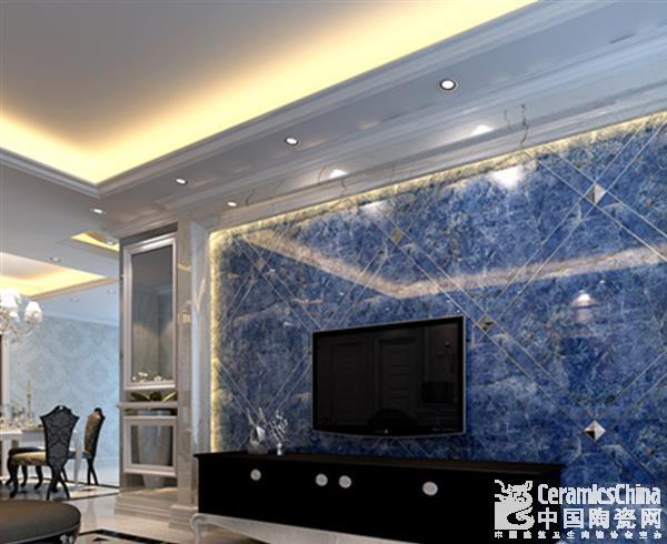 电视背景墙的铺法各式各样,可以根据装修风格选用木条,石膏线