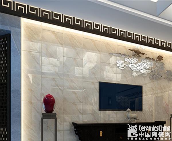 电视背景墙的铺法各式各样,可以根据装修风格选用木条,石膏线图片