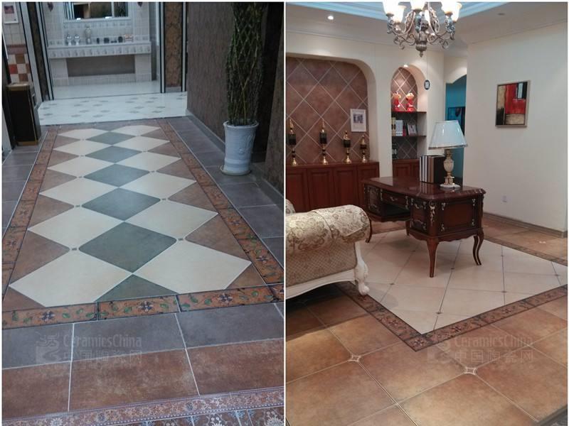 地面装修用防滑仿古地板砖好吗?