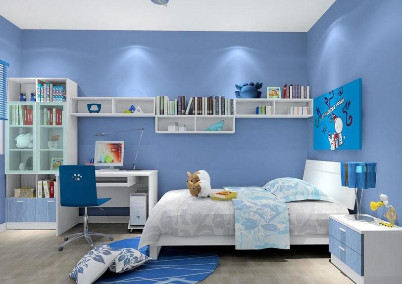 蓝色装修房间效果图怎么样?效果好不好?