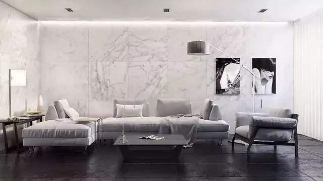 浅灰色大理石瓷砖用什么颜色美缝好看?
