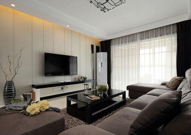 现代简约风格的电视背景墙装修效果图怎么样?