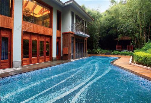 欧神诺8款高端泳池马赛克应用,每1款都美出天际
