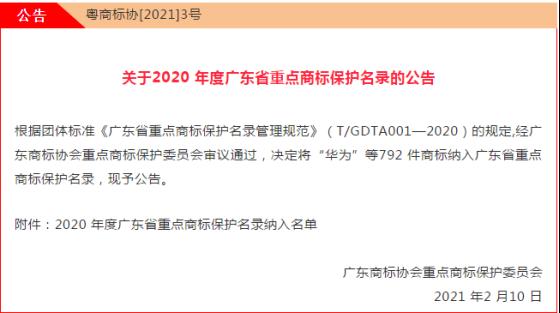 【重磅】新润成瓷砖被纳入2020 年度广东省重点商标保护名录!