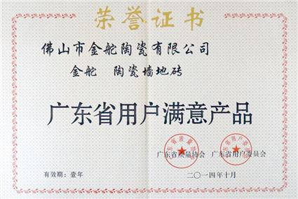 廣東省用戶滿意產品