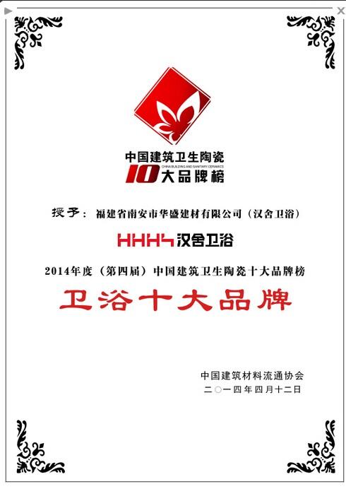 中国十大卫浴品牌