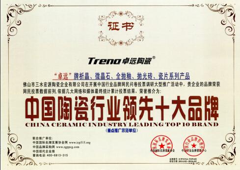 陶瓷行业领先十大品牌