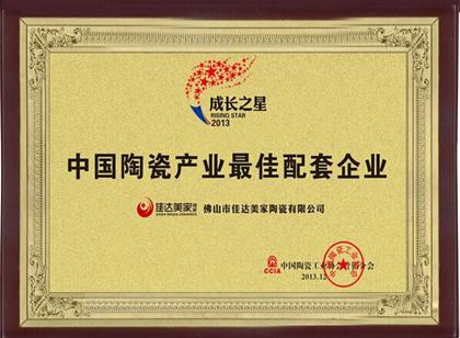 中国陶瓷产业最佳配套企业