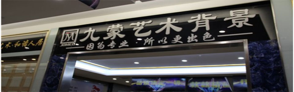 九蒙艺术背景墙形象图