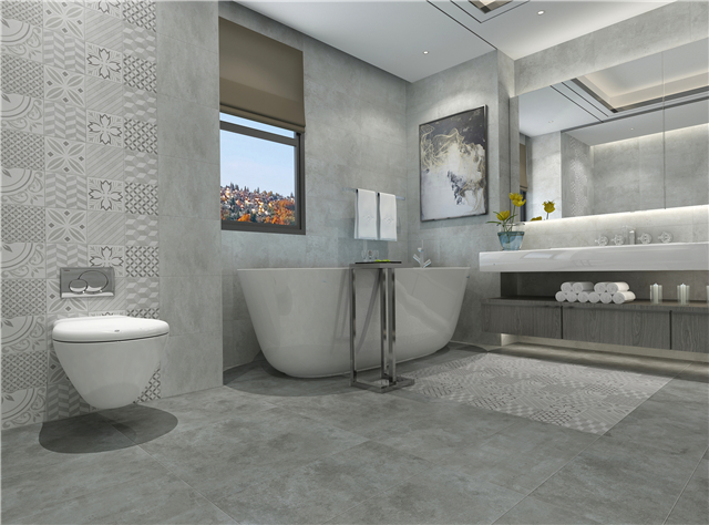 强牌纯净厨卫砖,打造最具设计感卫生间
