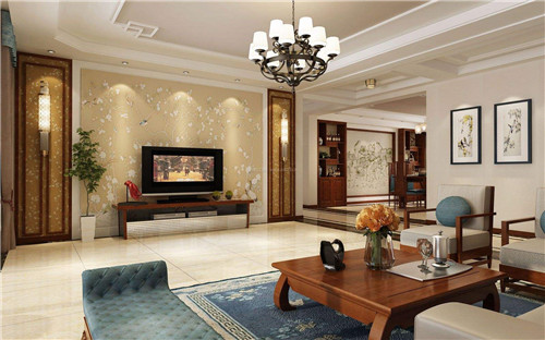 客廳中式裝修背景墻效果圖好看嗎?