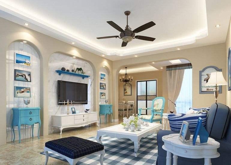 地中海风格装修图片客厅装修效果图怎么样?