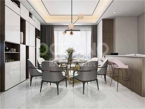 欧神诺陶瓷:家里餐厅这样设计,美观又实用