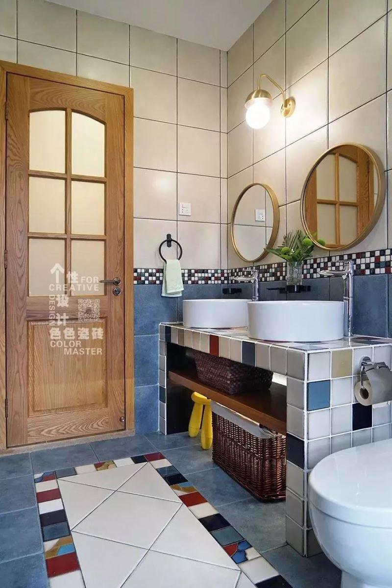 瓷砖洗手台图片