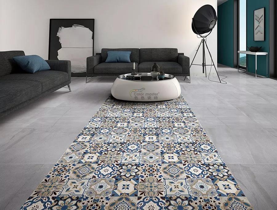 瓷砖地毯图片
